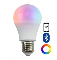E27 LED bulb adjustable color with bluetooth remote control