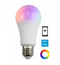 E27 LED bulb adjustable color with Alexa remote control