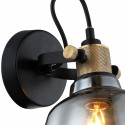 Little wall lamp with smoked glass design - Linz