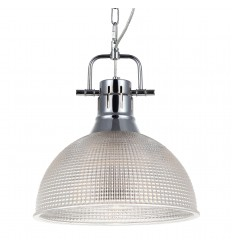 Glass pendant light with stainless steel chain - Shanti