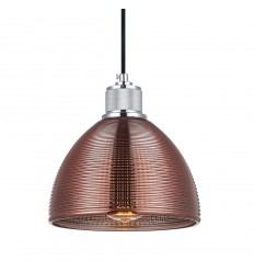 pendant light texture glass and copper - Arneb