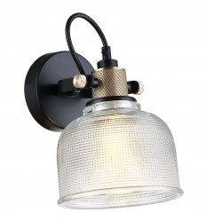 Textured bell shaped wall light - Vela