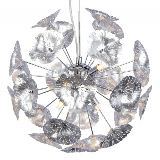 Silver bindweed pendant light - Aion