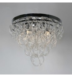Ceiling light with glass elements and chrome base - Chambord