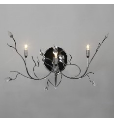 Chrome and glass leafy wall lamp - Palerme