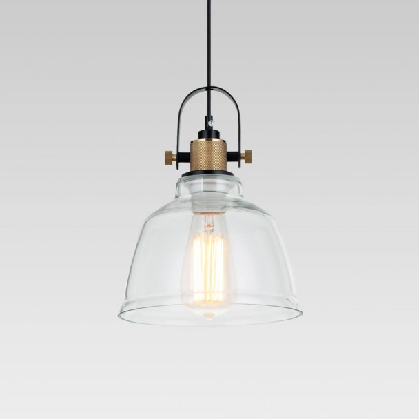 Regular glass industrial pendant lamp - Kalinka