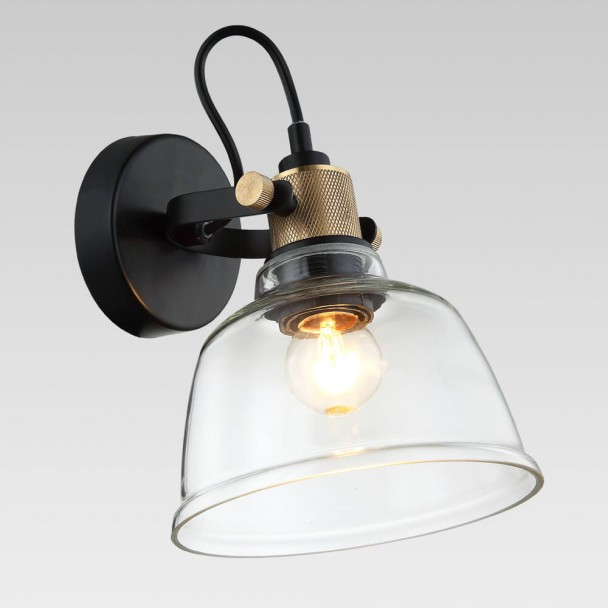 Small wall light with transparent glass - Linz