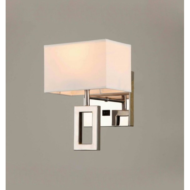 Wall light - design metal/fabric switch - Collection Adonis