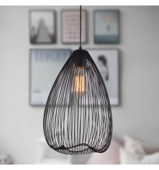 Long black pendant light - Fontana