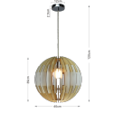 Stylish spherical wood pendant light - Koeln