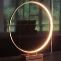 Large copper ring LED lamp with touch switch - Penelope