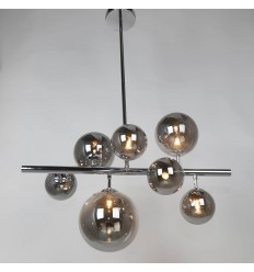 pendant light multiple spheres bars - Oz