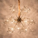 glass crystal pendant light - Eve