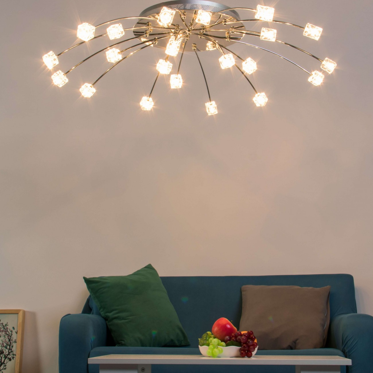 Ceiling Light Ice Cubes Diffusing, Contemporary Living Room Ceiling Lights Uk