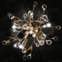 Ceiling light - gold crystal Gutenstein 6 Light