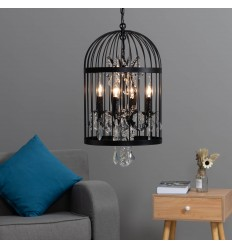 pendant light black cage - Amary