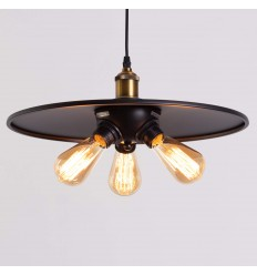 black industrial pendant light - Hestia