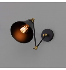 articulated interior wall light to lampshade - Melba