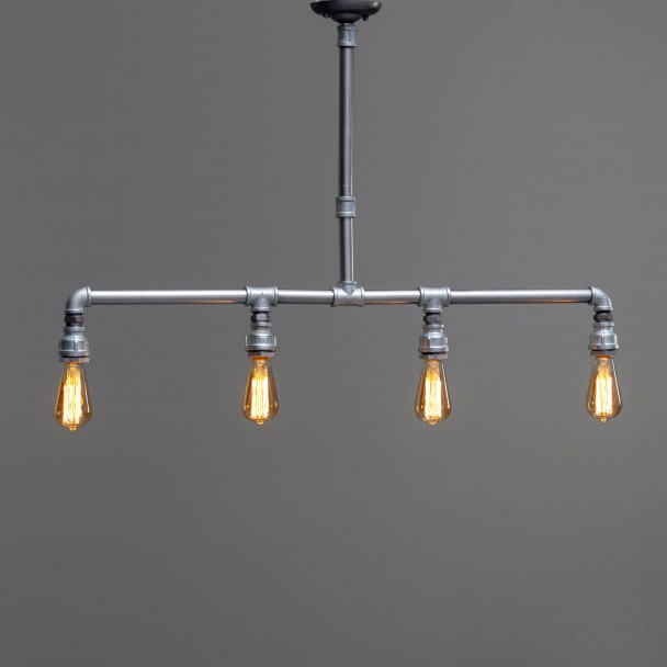 Silver pipes pendant lights - Oxus
