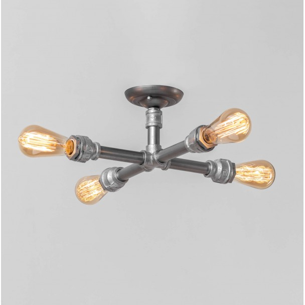 Small Perpendicular Pipes Ceiling Light Oxus Kosilight Uk