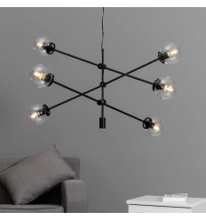 pendant light rods 3 black metal - Sagitta