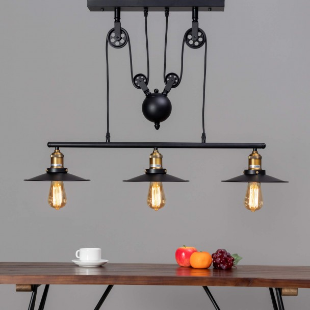 Industrial lamp pendant light - Triple Piattino
