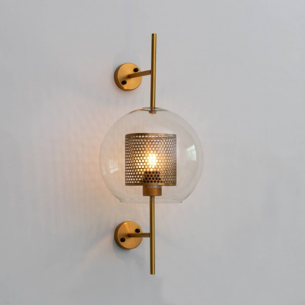 official photos 56940 e2860 Elegant candle jar-style wall sconce - Carina