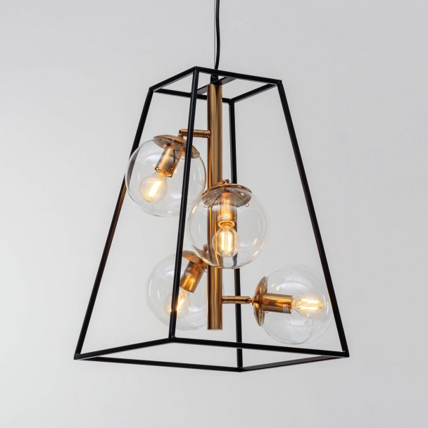 Metal Cage Pendant Light With Four Lights Argun