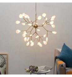 pendant light golden branches 36 lights - Arsinoe