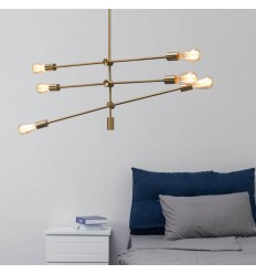 gilded brass pendant light - Sagitta