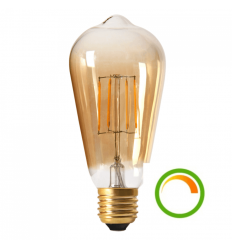 elongated filament bulb E27 8W LED amber