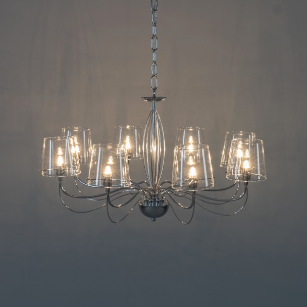 Chandelier Baroque Design 8 Light Transpa Gl 8xg9 Matane