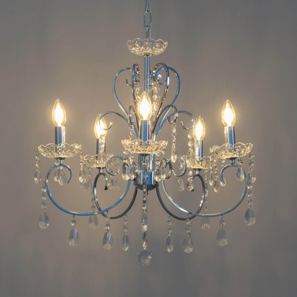 silver crystal chandelier - Pavia