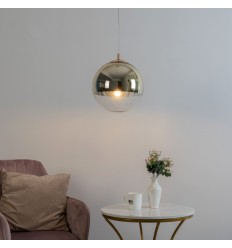 pendant light glass globe - 30cm