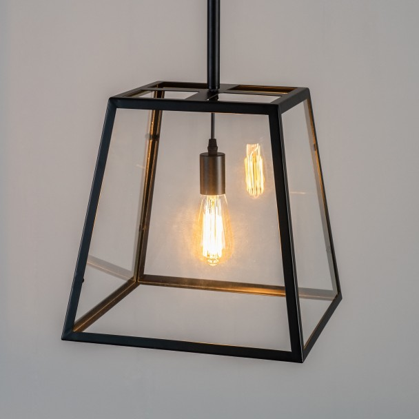 Large industrial Pendant glass - Fresy