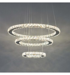 Crystal LED prestige pendant light - Oslo