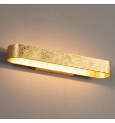 LED design interior wall light gold leaf - Dro