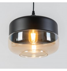 metal and glass luminaire pendant light - Amber
