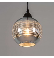 pendant light round glass shade - Metropolis