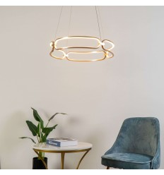 Golden modern pendant light - Adara