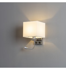 Wall light with square design and reading lamp- Hedder