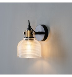 Textured glass bell wall light - Vela