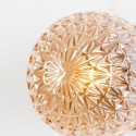 Small lamp design in rosette glass and golden base - Orian