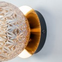 Chic wall lamp in rosette round glass - Orian