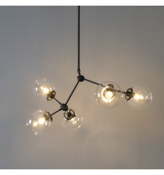Pendant light design in 5 glass balls - Odulia