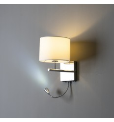 Contemporary reading white lamp in chrome - Winter