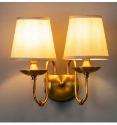 Double wall lamp with classical shade - Calida