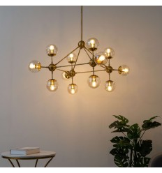 Great golden pendant light spheres 12 - Carolyn