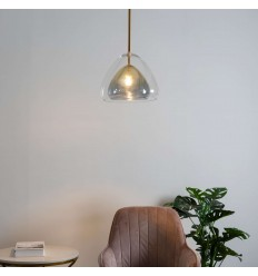 pendant light smoked glass double - Ziv