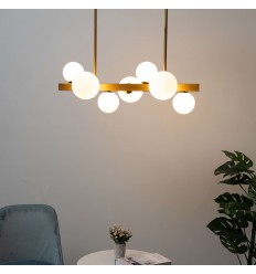 pendant light bar white glass spheres - Oromia